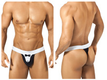 1312 PPU Men's Tuxedo Thong Color Black-White