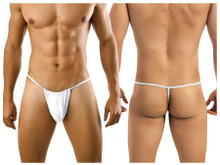 9586 CandyMan Men's G-string Thong Color White
