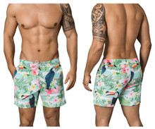 0666 Clever Men's Tropical Swim Trunks