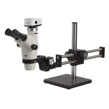 Unitron Z650HR Trinocular High Resolution Zoom Stereo Microscope on Ball Bearing Boom Stand