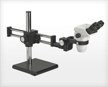 Accu-Scope 3075 Binocular Zoom Stereo Microscope on Ball Bearing Boom Stand