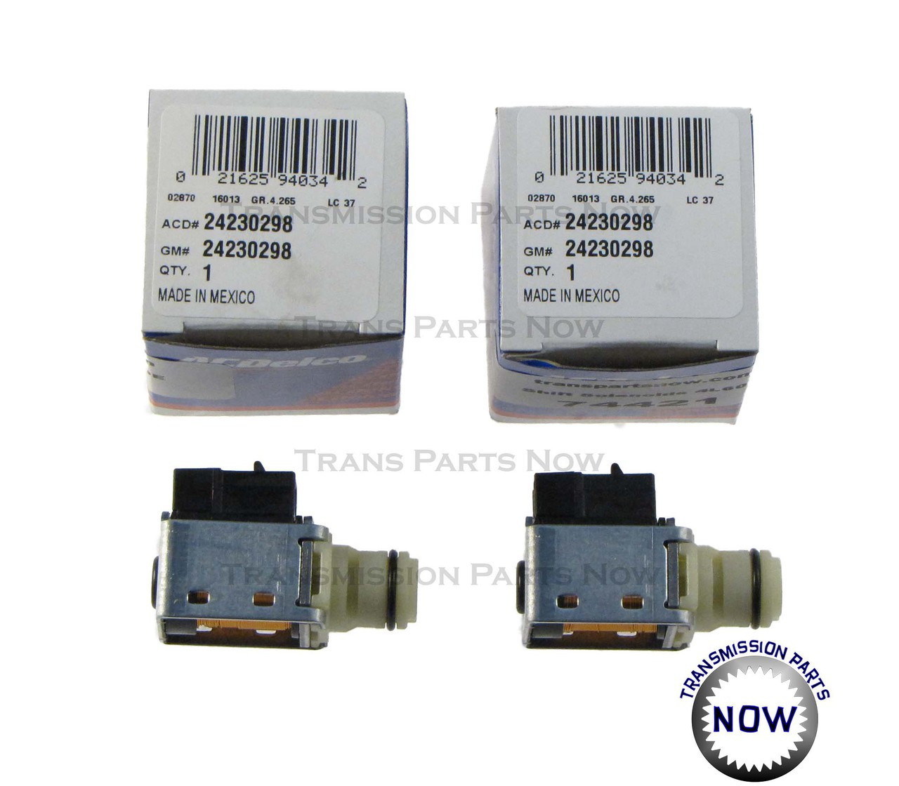 Shift Solenoid Kit Ac Delco Two Shift Solenoids 4L60E 4L65E 4L70E