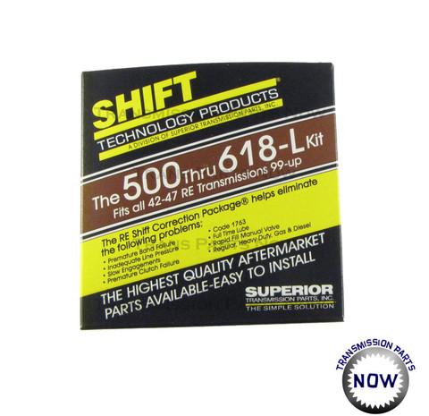 K500-618-L, Dodge shift kit, Shift kit, correction kit, upgrade, transmission parts, valve body, Valve body kits, Jeep, durango, Dakota, dodge, van, 1500, 2500, improve shift