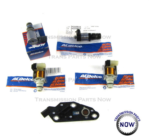 24227747, 24225825, 24219819, 84442H, 84442H, 84421G, 84431H, 75418E GM , Buick, Olds, Pressure control solenoid, lock-up solenoid, shift solenoid, pressure switch, 4t65E, transmission parts, transmission solenoids