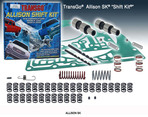 Allison SK, Transgo, Shift Kit, 121165T, T121165, 5 speed, upgrade, HP, Towing, Valve body