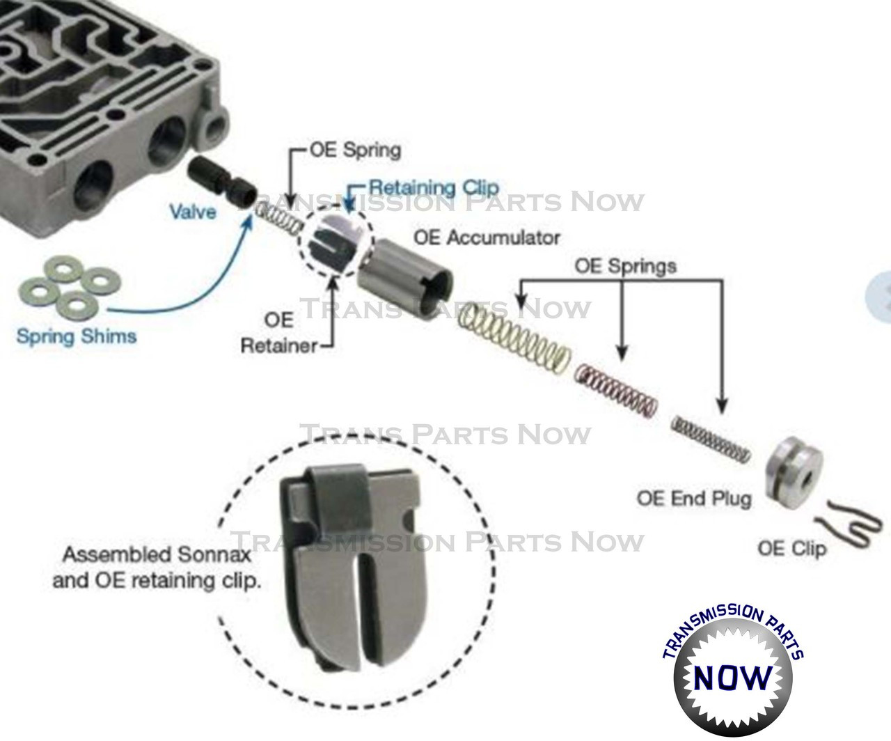 1-2 / 2-3 ACC Control Valve Sonnax E4OD 4R100 (1 valve) 36948-13K