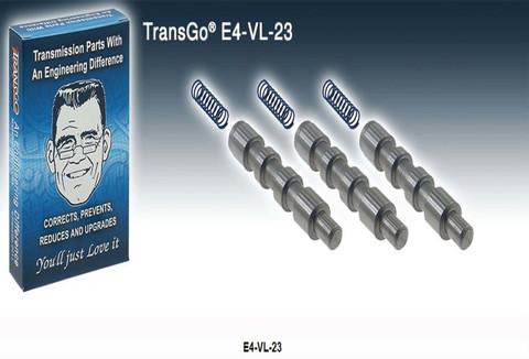 Transgo shift valve, 4R100, E4OD, transmission repair, Transtar T36741SAK. WIT Whatever it Takes A36741SAK, Natpro K37883G, PDQ TG-E4-VL-23, PTW Portland Transmission WarehouseE4-VL-23, OTS Oklahoma Transmission SupplyE4-VL-23, A & Red'sK10914, Ford
