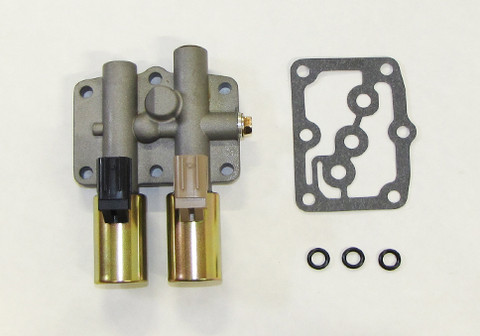 Honda dual linear transmission solenoid Made by Rostra from Transmission Parts Now.
