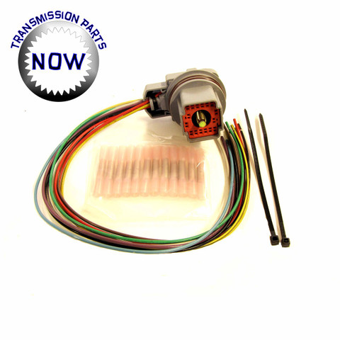 A wire harness connector repair end to fix connector and solenoid codes. Fits Ford 5R55S / 5R55W transmissions, Buy at transpartsnow.com 46445AK