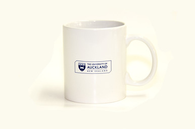 Traditional Logo ceramic mug. White