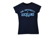 Varsity Blue Logo Navy Tee Women