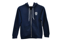 Zip Up Crest Hoodie Navy Women's