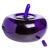 Sit-and-Ride Inflatable Seat with Vibrating Dildo Purple / Black