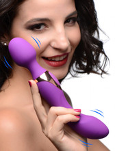 10X Dual Duchess 2-in-1 Silicone Massager - Purple