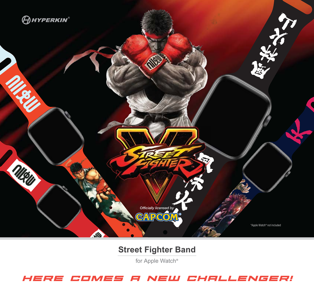 Capcom-license Street Fighter wrist band for Apple Watch