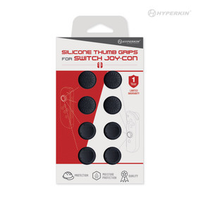 Silicone Thumb Grips for Switch Joy-Con (Neo Black) (8-Pack) - Hyperkin