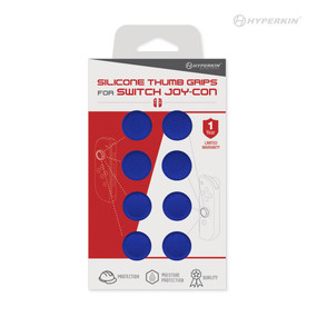 Silicone Thumb Grips for Joy-Con® (Neo Blue) (8-Pack) - Hyperkin