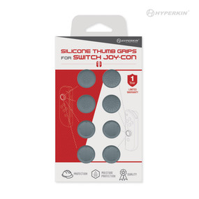 Silicone Thumb Grips for Switch Joy-Con (Neo Gray) (8-Pack) - Hyperkin
