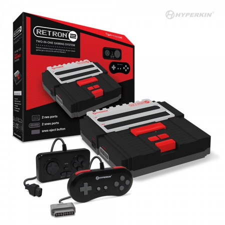RetroN 2 Gaming Console for Super NES®/ NES® (Black) - Hyperkin