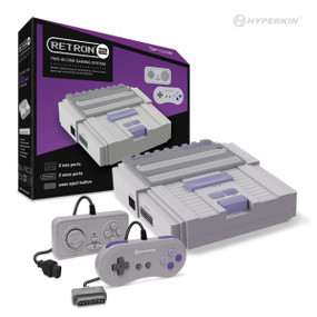 RetroN 2 Gaming Console for Super NES®/ NES® (Gray) - Hyperkin