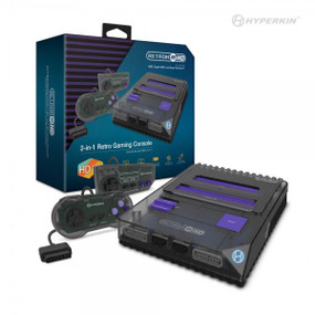 RetroN 2 HD Gaming Console for NES®/ Super NES®/ Super Famicom™ (Space Black) - Hyperkin