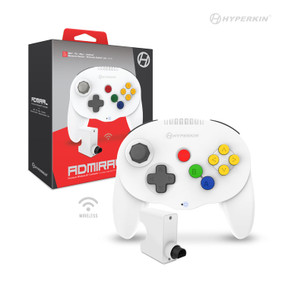 """Admiral"" Premium BT Controller For N64®/ Nintendo Switch®/ Nintendo Switch® Lite/ PC/ Mac®/ Android® (White) - Hyperkin"
