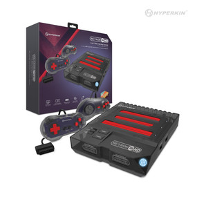 RetroN 3 HD 3-in-1 Retro Gaming Console for NES®, Super NES®/Super Famicom™, and Genesis®/Mega Drive (Space Black) - Hyperkin