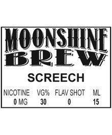MOONSHINE BREW SCREECH - E-Juice - E-Liquid - Electronic Cigarettes - ECig - Ejuice - Eliquid - Vape - Vapor - Vaping - Pickering - Ajax - Whitby - Oshawa - Toronto - Ontario - Canada - Organic - Organically