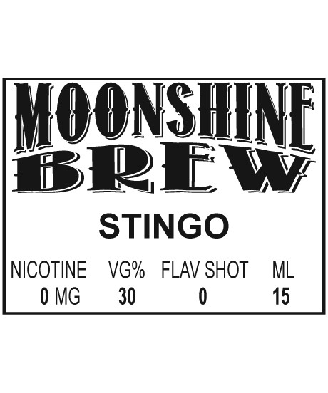 MOONSHINE BREW STINGO - E-Juice - E-Liquid - Electronic Cigarettes - ECig - Vape - Vapor - Vaping - Pickering - Ajax - Whitby - Oshawa - Toronto - Ontario - Canada