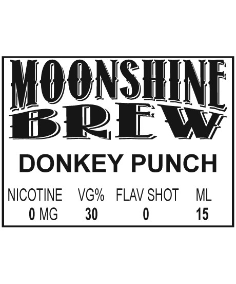 MOONSHINE BREW DONKEY PUNCH - E-Juice - E-Liquid - Electronic Cigarettes - ECig - Vape - Vapor - Vaping - Pickering - Ajax - Whitby - Oshawa - Toronto - Ontario - Canada