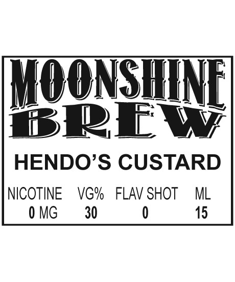 MOONSHINE BREW HENDO'S CUSTARD - E-Juice - E-Liquid - Electronic Cigarettes - ECig - Vape - Vapor - Vaping - Pickering - Ajax - Whitby - Oshawa - Toronto - Ontario - Canada