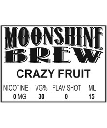 MOONSHINE BREW CRAZY FRUIT - E-Juice - E-Liquid - Electronic Cigarettes - ECig - Ejuice - Eliquid - Vape - Vapor - Vaping - Pickering - Ajax - Whitby - Oshawa - Toronto - Ontario - Canada