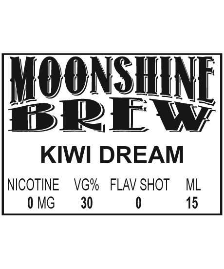MOONSHINE BREW KIWI DREAM - E-Juice - E-Liquid - Electronic Cigarettes - ECig - Ejuice - Eliquid - Vape - Vapor - Vaping - Pickering - Ajax - Whitby - Oshawa - Toronto - Ontario - Canada