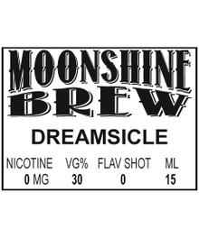 MOONSHINE BREW DREAMSICLE - E-Juice - E-Liquid - Electronic Cigarettes - ECig - Ejuice - Eliquid - Vape - Vapor - Vaping - Pickering - Ajax - Whitby - Oshawa - Toronto - Ontario - Canada
