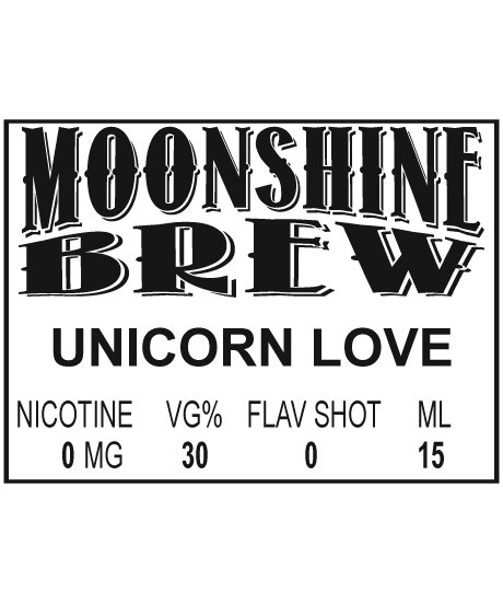 MOONSHINE BREW UNICORN LOVE - E-Juice - E-Liquid - Electronic Cigarettes - ECig - Ejuice - Eliquid - Vape - Vapor - Vaping - Pickering - Ajax - Whitby - Oshawa - Toronto - Ontario – Canada
