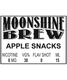 MOONSHINE BREW APPLE SNACKS - E-Juice - E-Liquid - Electronic Cigarettes - ECig - Ejuice - Eliquid - Vape - Vapor - Vaping - Pickering - Ajax - Whitby - Oshawa - Toronto - Ontario – Canada