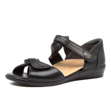 Ziera Doxie Women's Black Leather - Black
