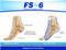 Orthosleeve FS6 Compression Foot Sleeve Natural