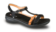 Revere Women's Milan Black/Tan Sandal