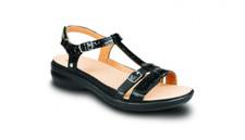 Revere Women's Milan Black Croc Sandal