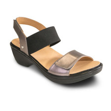 Revere Valencia Women's Backstrap Wedge Gunmetal - 34VALEGUNW