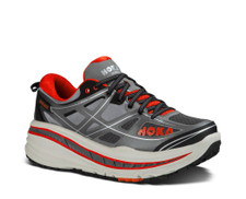 Hoka Men's Stinson 3 ATR Grey/ Orange Flash