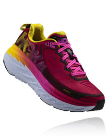 Hoka Women's Bondi 5 Virtual Pink/ Blazing Yellow