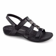 Vionic Women's Amber Sandal Black Croc