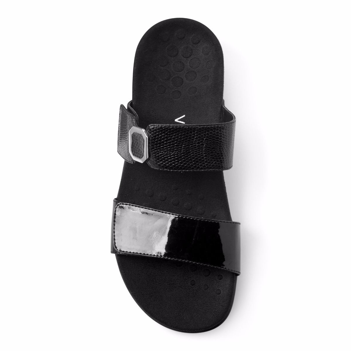 8637666f48fd Vionic Women s Camilla Slide Black Patent. Larger   More Photos
