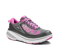 Hoka Women's Bondi 4 Grey/Fuschia