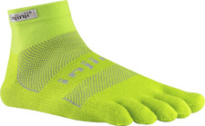 Injinji Run 2.0 Midweight Mini-Crew Socks Lime