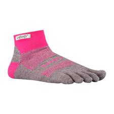 Injinji Run 2.0 Midweight Mini-Crew Socks Grey/Pink