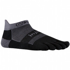Injinji Run 2.0 Midweight No-Show Socks Black/Grey
