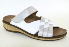 Flexipiel Women's Nappa Slip On  White/Silver